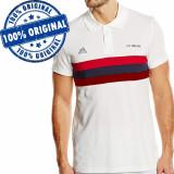 Tricou Adidas AC Milan Polo pentru barbati - tricou original, M, Maneca scurta, Alb