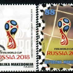 MACEDONIA 2018 FOTBAL CUPA MONDIALA, Nestampilat