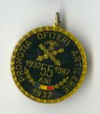 PROMOTIA  OFITERI DE ARTILERIE 1932-1987  - Medalie RARA