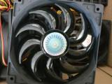 Ventilator Cooler Master 120 mm ( 12 cm ) 12V  carcasa + adaptor molex la sursa