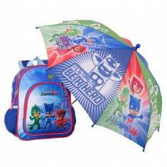 Ghiozdan pentru copii Eroi in Pijama , 30 cm + umbrela 57 cm