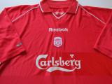Tricou REEBOK fotbal - FC LIVERPOOL (produs oficial) sezon 2000 / 2002, XXL, Din imagine, De club