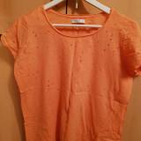 Tricou portocaliu cu perforatii RESERVED L, Din imagine