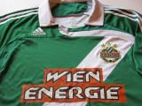 Tricou ADIDAS fotbal - RAPID VIENA (cu dedicatie si autograf), XXL, Din imagine, De club