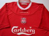 Tricou REEBOK fotbal - FC LIVERPOOL (produs oficial) sezon 2002 / 2004, XL, De club
