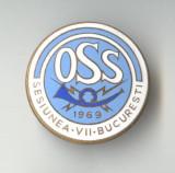 OSS - POSTA & TELECOMUNICATII - 1969 -  Insigna email - SUPERBA - Rara