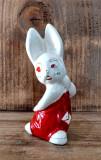 Bibelou din portelan vechi romanesc - iepure (Stanta Faimar, 13cm inaltime) #646