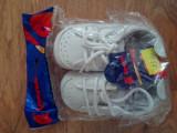 Adidasi, tenesi, pantofi albi copii, nr 18 - NOI, cu eticheta, Alb