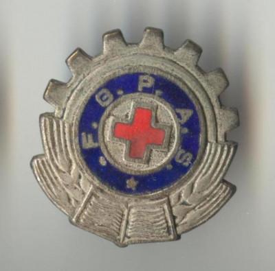 FGPAS - CRUCE ROSIE RPR MEDICINA SANITARE 1949 - Insigna SUPERBA EMAIL foto