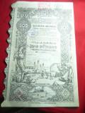 Titlul la Purtator -Actiune 500 lei Banca Romaneasca1922 grafica Costin Petrescu