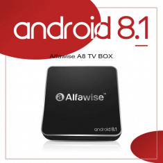 TV BOX Mini PC ALFAWISE 4K-3D,Quad-core,2Gb,16gb,ANDROID 8.1,WI-Fi,NOU