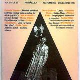 Revista Agora volumul IV Nr. 4 octombrie dec 1991 Dorin Tudoran Corneliu Coposu