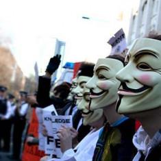 Masca Anonymous, Guy Fawkes Day, Marime universala, Alb