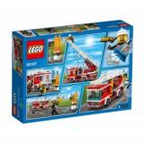 Camion de pompieri cu scara (60107), LEGO