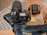Nikon D70s + Obiectiv Nikkor 18 - 55mm + Geanta + 3 Carduri
