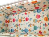 """Lenjerie patut bebelusi cu 5 piese """"Balonase"""" 60 x 120 cm, 120x60cm, Alb, KidsDecor"""