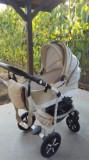 Cărucior Baby Merc 3în1, Crem, Baby-Merc