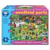 Puzzle de podea Petrecerea din padure (70 piese) WOODLAND PARTY JIGSAW, orchard toys