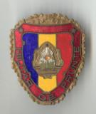 MILITAR DE FRUNTE 1970   - Insigna EMAIL