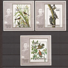 COOK ISLANDS 1985 FAUNA PASARI(3 colite dantelate) MNH