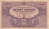 CEHOSLOVACIA 10 korun 1927 VF!!!