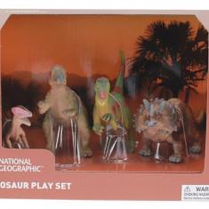 Set 4 figurine - Chasmosaurus, Guanlong, Pachycephalosaurus si T-Rex