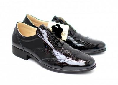 Pantofi dama casual crem din piele naturala NA252B foto