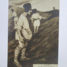 Rara! Carte postala Vasile Alecsandri-Semanatorii,Scharaga Bucuresci cca.1900