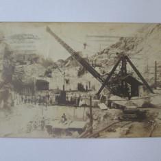Rara! Carte postala foto Bocsa Montana-Exploatarea miniera,circulata 1922, Fotografie