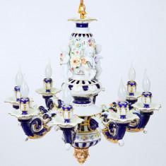 CANDELABRU VENETIAN DIN PORTELAN COBALT Porzellan-Deckenlampe-co