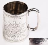 Pahar, cana din argint masiv 925/1000 Sterling, Pahare