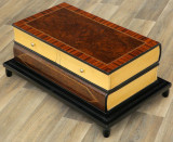 MASUTA ART DECO DIN LEMN MASIV FURNIRUIT MODEL CARTE  CAT-ART-DECO-BOOK-TABLE, Mese si seturi de masa
