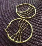 Cercei rotunzi gama GUESS -placati cu aur galben filat 18k- STOC LIMITAT