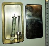 CUTIE INOX PENTRU STERILIZAT SERINGA + SERINGA + ACE