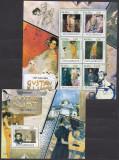 Arta Pictura Gustav Klimt 1 MS + 1 SS MNH  Mozambic, Nestampilat