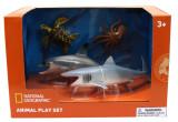 Set 4 figurine - Broasca testoasa, Rechin, Delfin si Caracatita