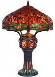 LAMPA TIFFANY  MONUMENTALA DIN BRONZ CU LIBELULE  TF-131