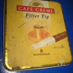 Cutie tigarete veche interbelica- Cafe Creme- Henri Wintermans- Holland.