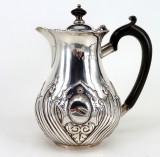 Carafa,cana, cafetiera din argint masiv 925/1000, Pocal