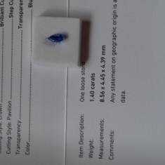 Safir natural netratat Srilanka 1.40 ct