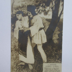 Rara! Carte postala Vasile Alecsandri,Cinel-Cinel/Scharaga Bucuresci cca.1900