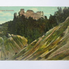 Carte postala Targu Neamt/Cetatea Neamtului,circulata 1914, Printata
