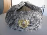 Caciula noua iarna din postav si caracul ofiter superior armata R.S.R. masura 58