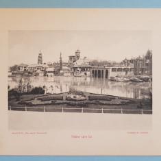 Expozitia 1906 Bucuresti - Vedere spre lac - 17x13 cm