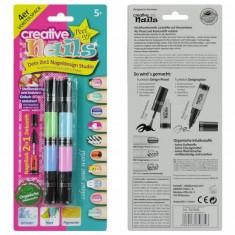Set 2 in 1 unghii artistice - culori pastel