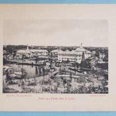 Expozitia 1906 Bucuresti - Vedere spre Palatul Mine si Cariere - 17x13 cm