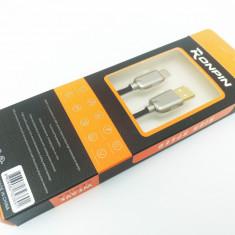 Cablu Date si Incarcare RONPIN Type-C Cablu Negru C217