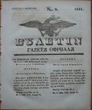 Ziarul Buletin , gazeta oficiala a Principatului Valahiei , nr. 6 , 1841