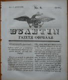 Ziarul Buletin , gazeta oficiala a Principatului Valahiei , nr. 8 , 1841