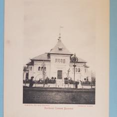 Expozitia 1906 Bucuresti - Pavilionul Comunei Bucuresci - 17x13 cm